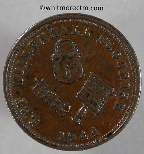 Unofficial Farthing Willenhall 5136 Rushbrooks Tea & Grocery. Plainer lettering