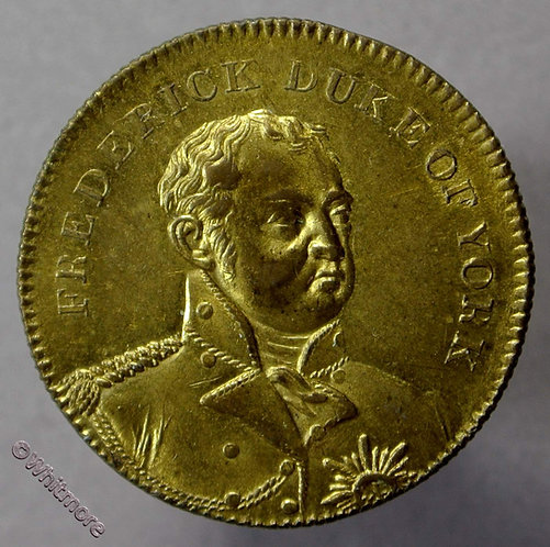 1827 Death of Duke of York - Prince Frederick Medallion 25mm Gilt bronze