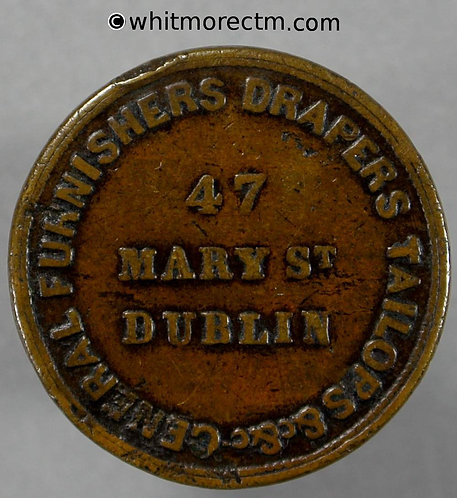 Unofficial Farthing Dublin 6320 Todd Burns & Co. 47 Mary St. Rare