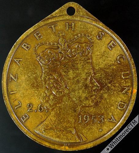 1953 Southern Rhodesia Coronation Medal 32mm WE8091B presented by Bulawayo.