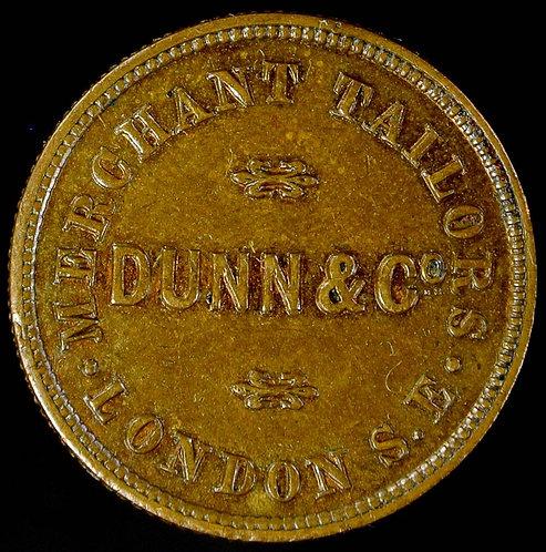 Unofficial Farthing Token London 2480 Dunn & Co. Merchant tailors Very Rare