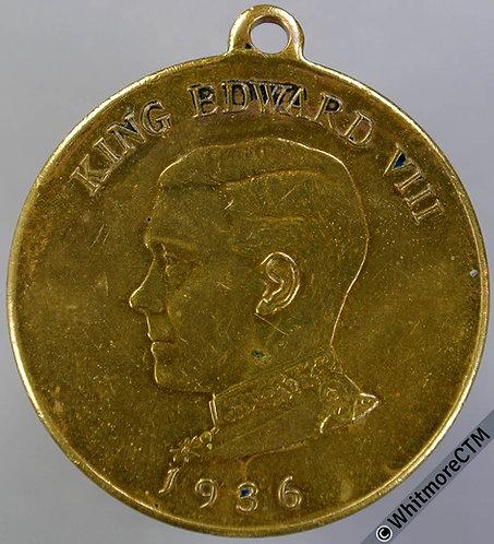 1936 Daily Dispatch Birthday Club Edward VIII Medal 32mm M176b Gilt Bronze
