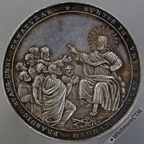 Papal (1800) Award Medal 40mm Alumnorum Collegii Urbani. By L.Gennari. Silver