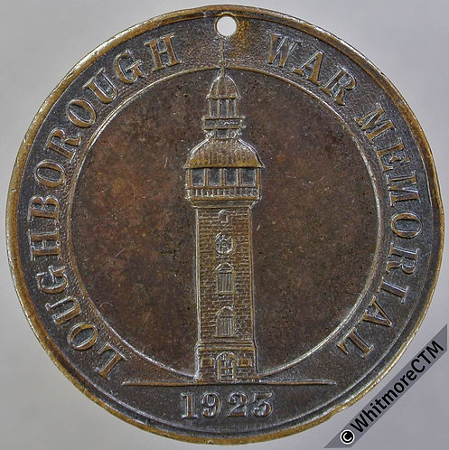 1923 Loughborough War Memorial Medal 32mm by Latimer - Bronze