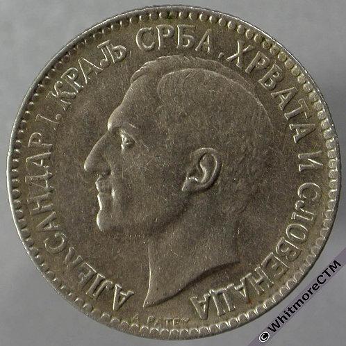 1925 Yugoslavia 1 Dinar obv