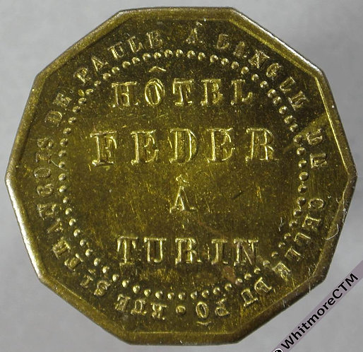 Italy Turin Hotel Feder Token obv 24mm