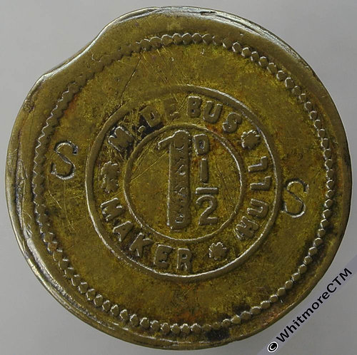 Hull Value Stated Token 23mm S.S. stamped incuse around M.Debus 1½D
