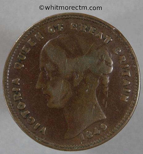 Unofficial Farthing Rochdale 4450 1849 W & J Brown. Tea Merchants Very rare