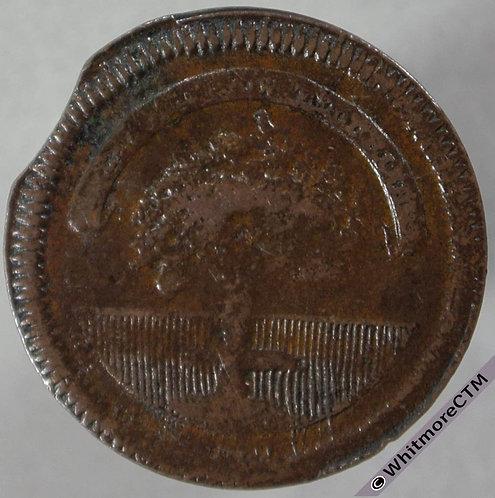18th Century Farthing Glasgow 46 Arms / Retailers token. Rare obv