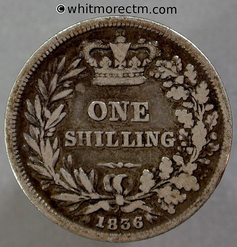 1836 British Shilling William IV