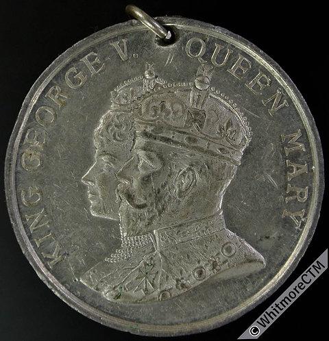Hornsey George V 1911 Coronation Medal 38mm WE5288B White metal.