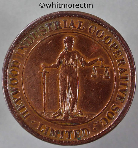 Co-Operative Society Token Heywood Industrial Manchester 30mm £5 By Ardill