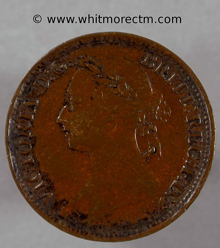 1885 Victoria Young Head  Bronze Farthing 1/4d