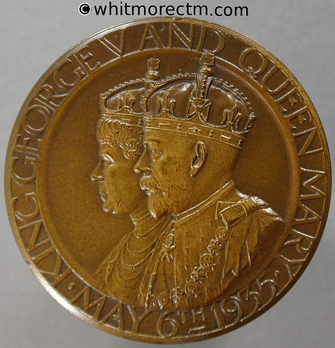 1935 George V Silver Jubilee Medal 35mm B4261 By Pinches. Bronze