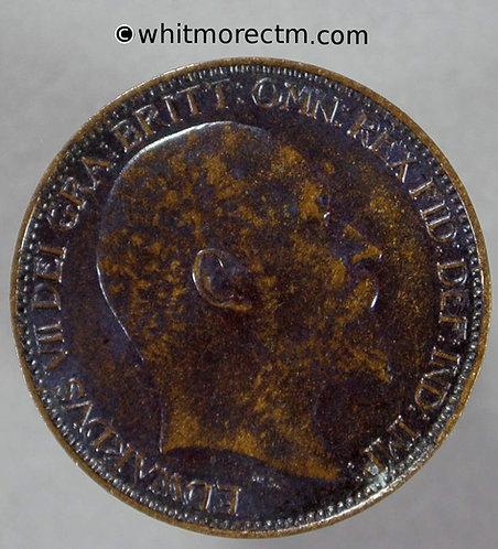 1909 Farthing Edward VII