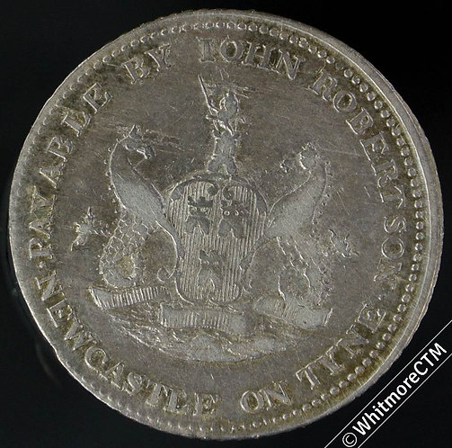 19th Century Shilling Newcastle on Tyne 11 1811 John Robertson / Seated female