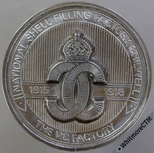 Chilwell Notts 1982 Closure of Central Ordnance Depot Medal 45mm The V.C.Factory