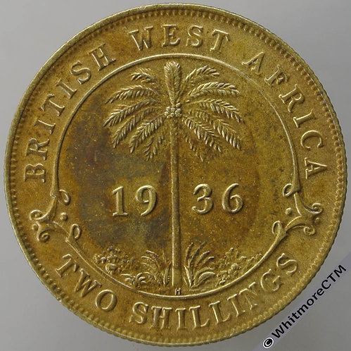 1936H British West Africa Two Shilling 2/- Y17a