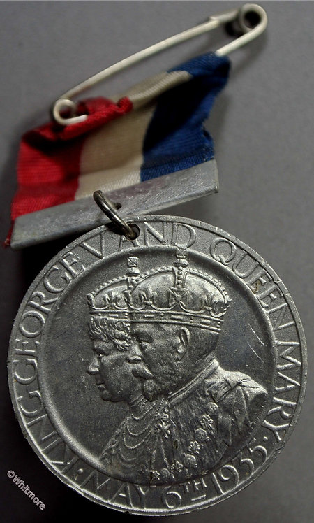 1935 George V Jubilee Medal 35mm B4261 WE5729 Aluminium By Pinches