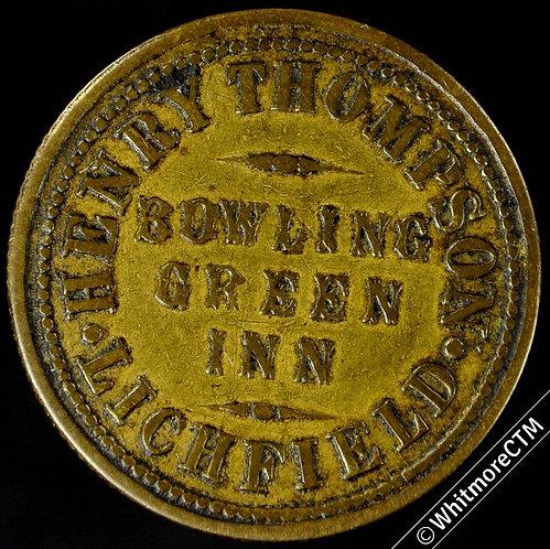 Inn / Pub Token Lichfield  W5110 Bowling Green Inn 2D By Daniell (DAN50-4)