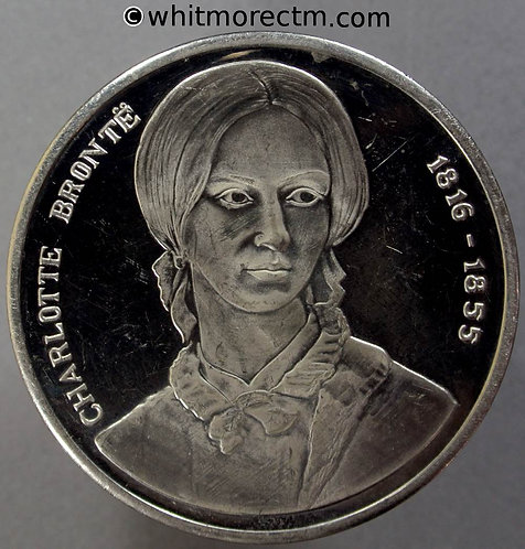 Haworth Yorkshire Charlotte Bronte Medal 45mm View of Parsonage - Cupro-nickel