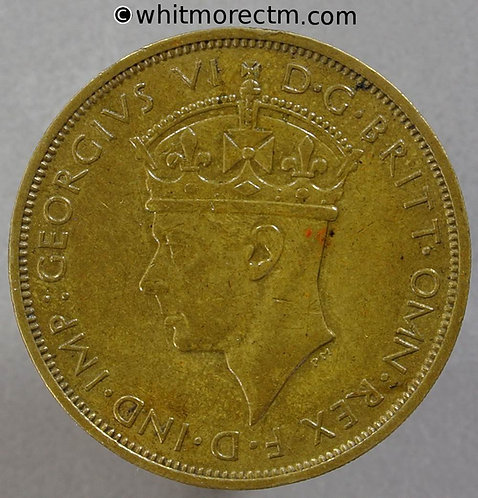 1942KN British West Africa 2/- Two Shilling Y28