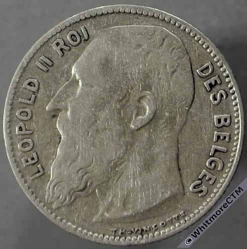 1909 Belgium 1 Franc obv - French Legend  .stop in signature