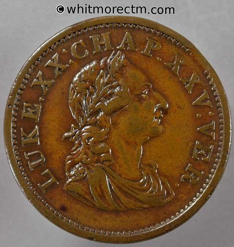 "19th Century Penny Ireland 1916 1821 Laur. bust R. ""Luke XX"" etc./ Harp - obv"