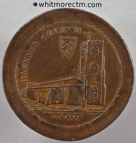 18th C Hackney 17b 1795 Edge. I Promise to Pay on Demand the Bearer One Penny - possibly unique