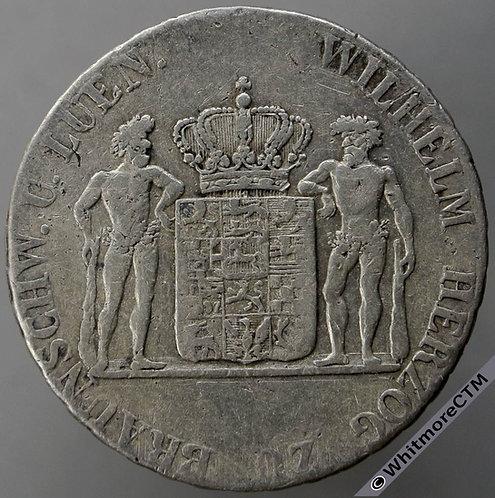1832 Germany Brunswick-Wolfenbüttel 24 Mariengroschen C215 - Silver