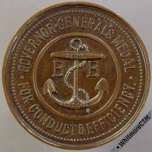 Canada Boys Brigade Governor-general's Medal 34mm Conduct & Efficiency