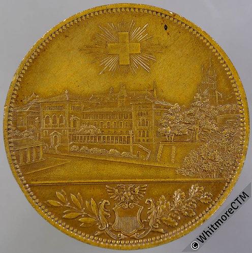 Switzerland 1891 Inauguration of Lausanne University Medal 40mm Gilt bronze