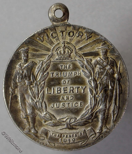 1919 Australia Peace - Victory Medal 27mm Sailor & soldier