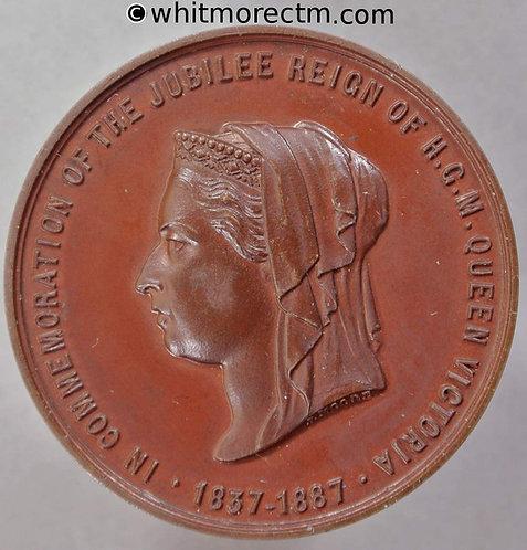1887 Queen Victoria Jubilee Medal 38mm B3265 By J.Moore. - Bronze