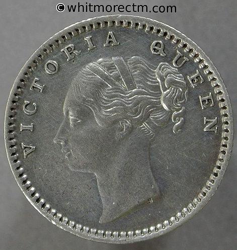 1840 British India Quarter Rupee coin obv - LT  S incuse S&W 2.46 Y2