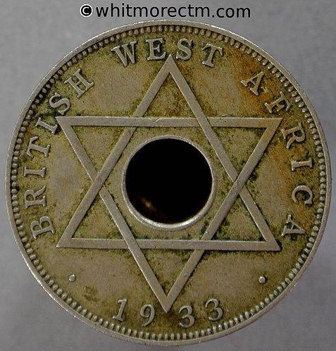 1933 British West Africa Halfpenny coin Y8