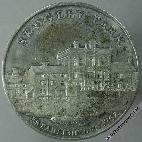 Sedgley Park School Staffs Merit Medal 42mm D & W 272/515 Rare. White metal