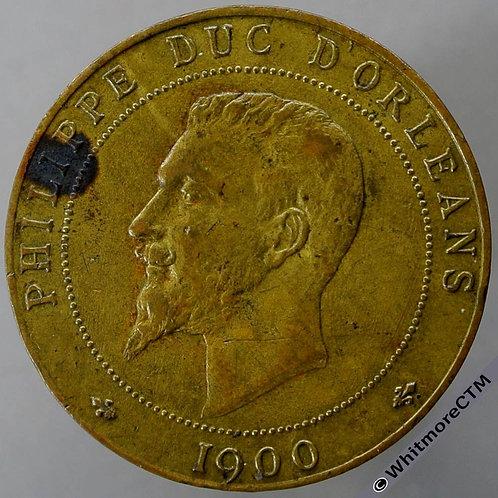 1900 France Philippe Duc D'Orleans Declaration Medal 31mm Bronze