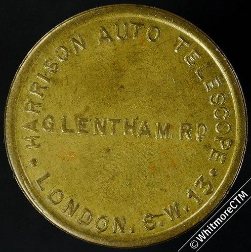 London 31mm Harrison Auto Telescope, Glentham Rd SW13 / Uniface – Brass