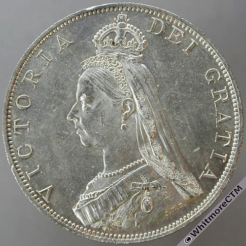 1887 Double Florin - Roman I. Proof-like
