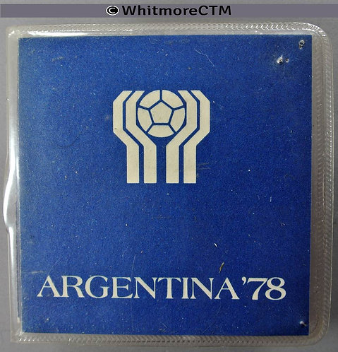 1978 Argentina World Cup Commemorative 20,50 & 100 Pesos Y44-46 wallet