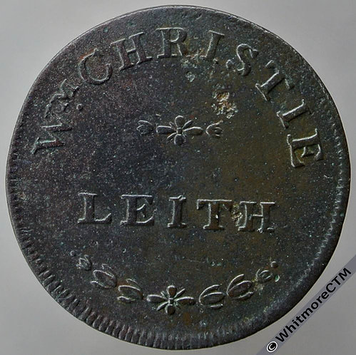 19th Century Farthing Leith 1819 Wm. Christie. D&H p439 Davis p203 Not in TB1