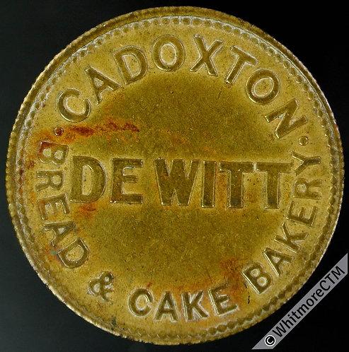 Bonus Token Cadoxton 27mm XA80 Dewitt Bread & Cake Bakery By Harper