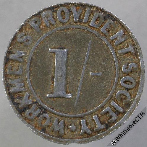 Workmens Provident Society Token Middleton-in-Teesdale 21mm 1/-  Bracteate tin