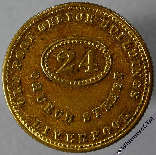 Unofficial Farthing Liverpool 2154 F.L.Hausburg-Jeweller Variety with plain 4