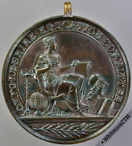 Oxfordshire Education Committee attendance Medal 39mm D1575 Bronze
