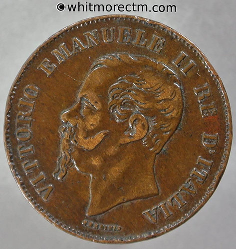 1867M Italy 5 Centesimi coin obv Y8