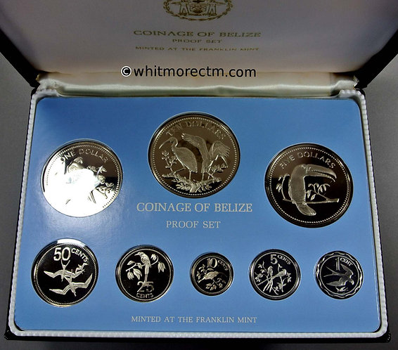 1980 Belize Coin Set Cased & sealed cupro-nickel proof with certificate