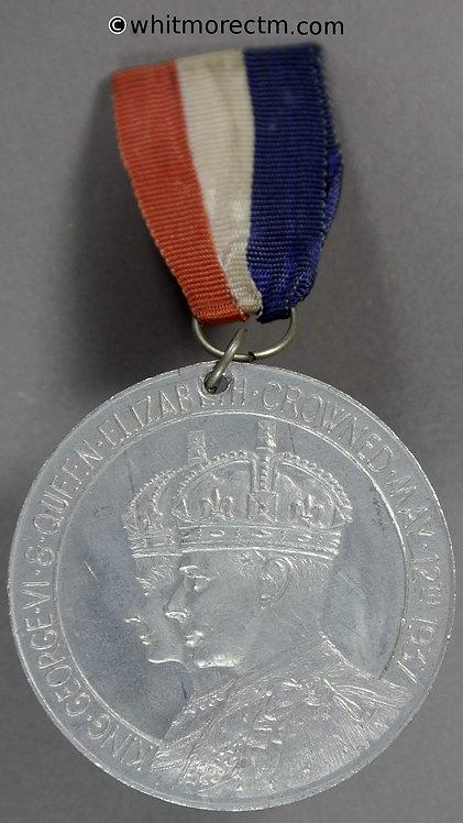 1937 George VI Coronation Medal obv 38mm B4344 British Empire 5 Figures around globe