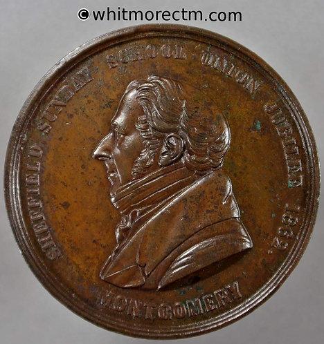 Sheffield 1862 Sunday School Union Jubilee Medal 38mm Bronze. Not in Brown
